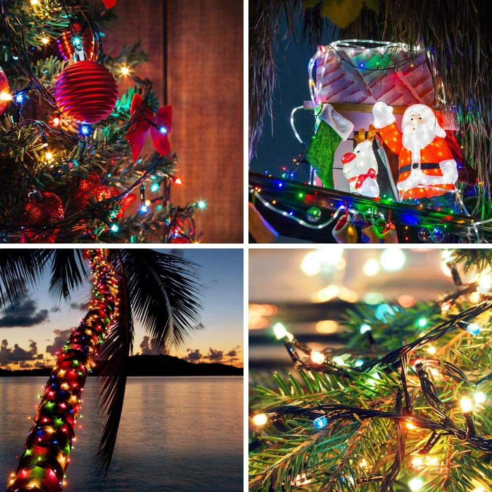 Halloween Party Garden UL Certified Outdoor /& Indoor Fairy Lights Christmas Tree Holiday Decoration,Multicolor Christmas Lights Wedding LetsFunny 108ft 300 LED Christmas String Lights Patio