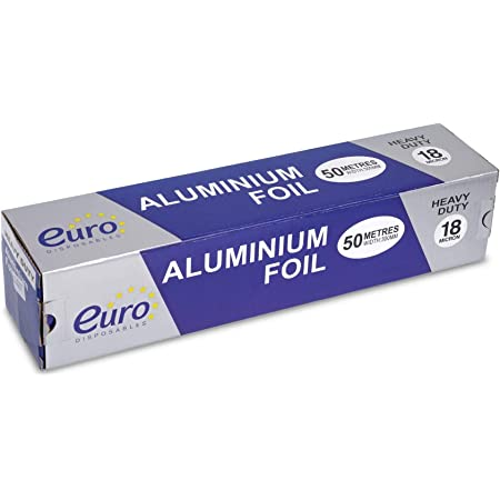 16M Extra-Wide Aluminum Kitchen Foil x2 Grilling /& Wrapping Cooking