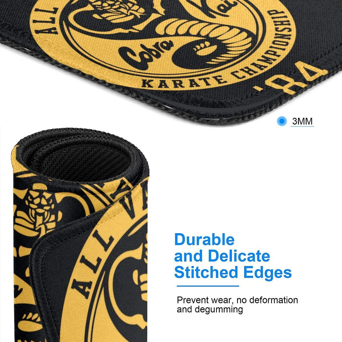 Laptop Wehoiweh Cobra Kai Mouse Pads for Computers Office /& Home,Multiple Sizes
