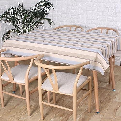 Retro Pastorale Naturleinen Tischdecken Blau und Grau Gitter Rechteckige Tischdecke Dekoration Staubdichte Abdeckung Handtuch , 140220cm