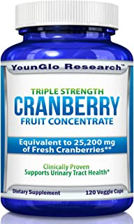 PACRAN Triple Strength Cranberry Pills Concentrate - Supports Urinary Tract Health - 120 Soy-Free Non-GMO Vegetarian Capsules (1 Pack)