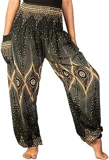Women's Rayon Print Smocked Waist Boho Harem Pants