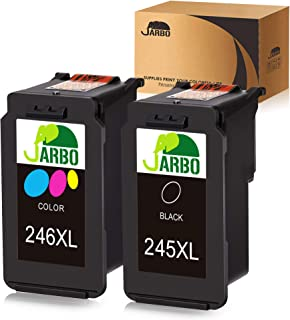 JARBO 245XL 246XL Compatible for Canon PG-245XL CL-246XL PG-243 CL-244 Combo Pack, 1 Black+1 Tri-Color, for Canon PIXMA MG2520 MG2522 MG2525 MG2920 MG3020 MG2922 MG2924 MG2420 MX490 MX492