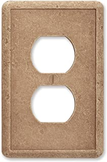 Questech Noche Tumbled Textured Wall Plate Switch Plate Electrical Outlet Cover (Single Duplex)