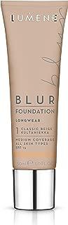 Lumene Longwear Blur 粉底 SPF 15,适合所有肤质,中等覆盖北极云莓 30 毫升/ 1.0 液体盎司。