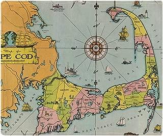 CafePress Vintage Map of Cape Cod Soft Fleece Throw Blanket, 50