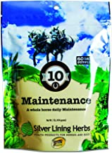 Equine Daily Maintenance | Supports and Maintains a Healthy Horse in Peak Mental and Physical Condition | Promotes Healthy Coat and Skin | 1 Pound Resealable Bag | Made By Silver Lining Herbs in the USA of Natural Herbs