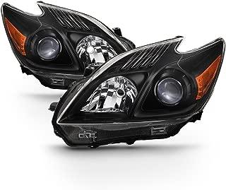 ACANII - For Upgrade Black 2010-2011 Toyota Prius Halogen Headlights Headlamps Driver + Passenger Side