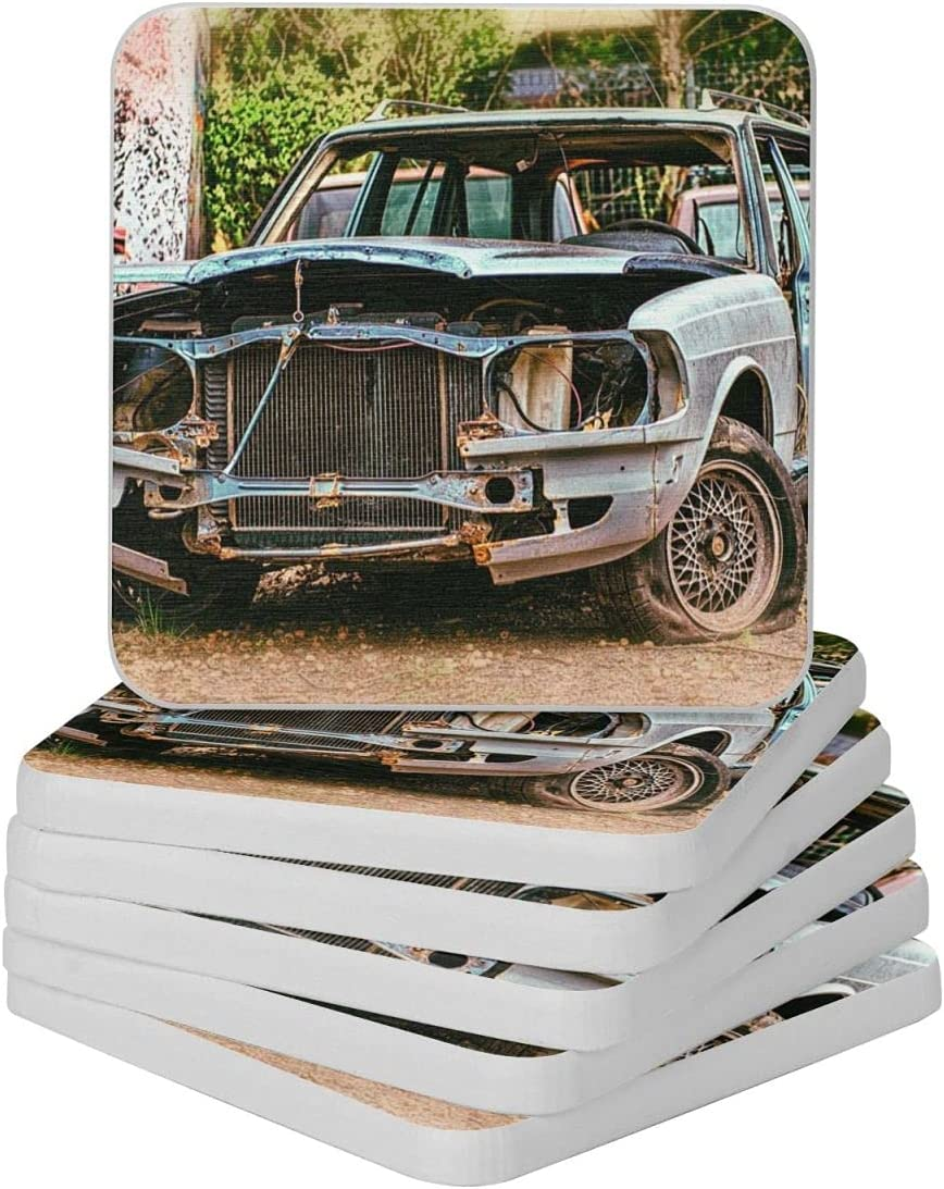 Rusty Car Diatomite Cup Sale SALE% OFF Max 87% OFF Coaster-for for Drinks Coasters Abso 4in