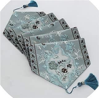 Table Runner Table Mat Pillowcase Decorative Table Flag Fabric Table Cloth Living Room Supplies,32X180Cm,Blue