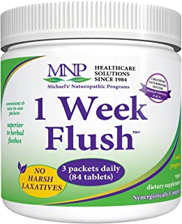Michael's Naturopathic Programs 1 Week Flush - 84 Vegetarian Tablets - Nutritional Support for Colon Cleansing, Blood Detoxing, Liver Cleansing & Fat Metabolizing - Gluten Free - 7 Servings
