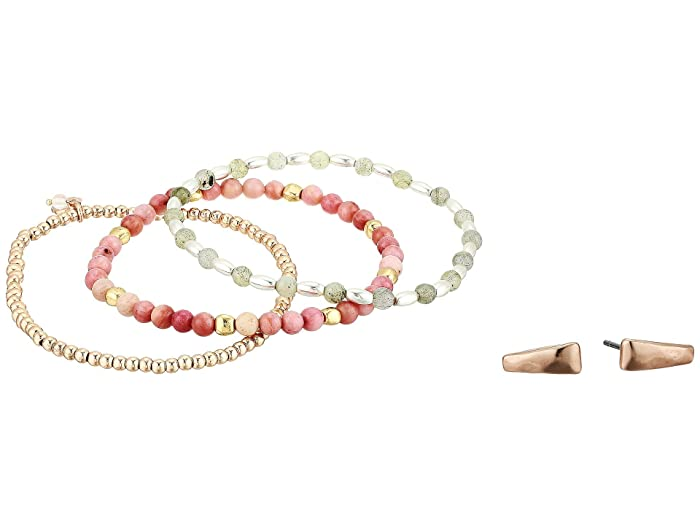 Lucky Brand  Bracelet and Earrings Set (Two-Tone 1) Jewelry Sets