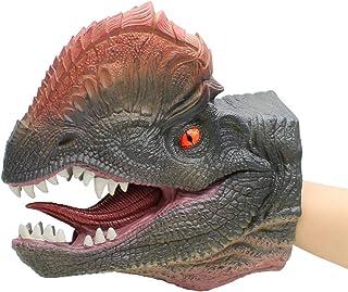 Rojo sharprepublic Dinosaurio Mano Marioneta Tyrannosaurus Guantes De Fiesta De Juguete Asustado para Ni/ños