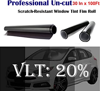 Mkbrother Uncut Roll Window Tint Film 20% VLT 30 in x 100' Ft Feet (30 X 1200 Inch) Car Home Office Glasss
