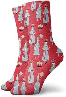 Kevin-Shop Calze a Compressione Saint Lucy Rsquo; s Calze in Cotone Alte alla Caviglia Donna Uomo Leggero