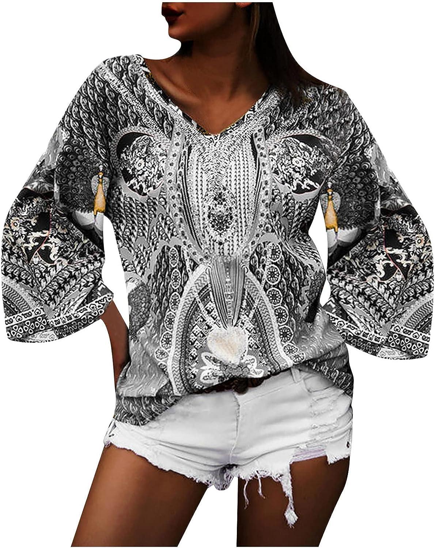 UOCUFY Sweatshirts for Women, Womens Sweatshirts 2021 Cute Printed Long Sleeve Pullover Loose Drawstring Hoodie Tops