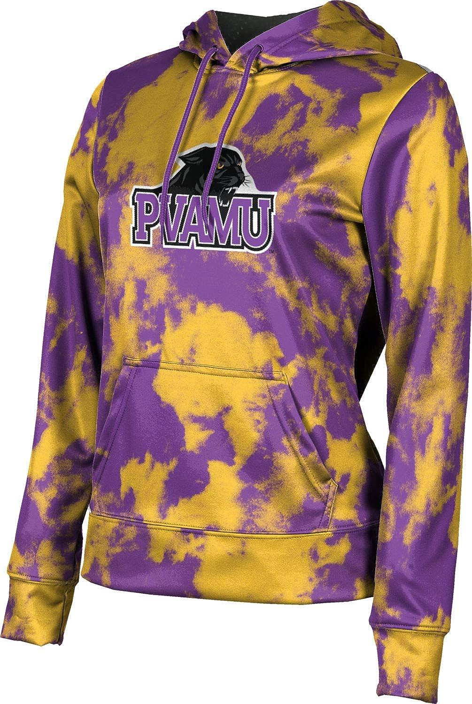 Prairie View A&M University Girls' Pullover Hoodie, School Spirit Sweatshirt (Grunge)
