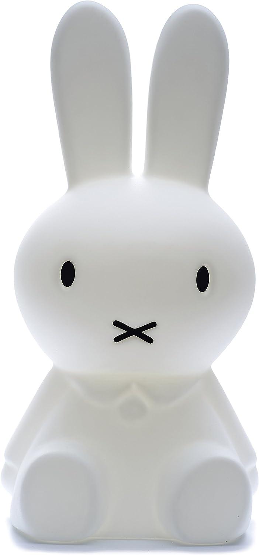 Mr Maria - Miffy Original Lampe - XL (80cm Hhe) - bruchsichere kindergroe LED-Kinderlampe Hase - Dimmbare Nachtlampe für jedes Kinderzimmer auch als Schlaflicht   Nachtlicht - Warmes LED Licht für Schlafzimmer & Kinderzimmer, Babyzimmer