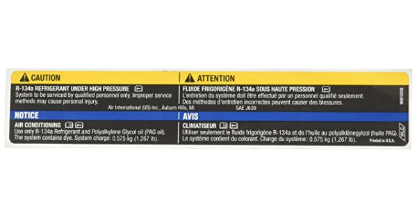 Genuine GM 96810250 Air Conditioning Refrigerant Warning Label