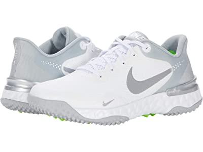 Nike Alpha Huarache ELT 3 Turf (White/Smoke Grey/Light Smoke Grey) Shoes