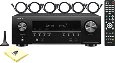 Denon AVR-S750H 7.2 Channels 165 Watts High Performance 4K Ultra HD AV Receiver with HEOS, Google Assist and Amazon Alexa Voice Command Bundle with 6 HDMI Cables and Zorro Sounds Receiver Cloth