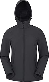 Mountain Warehouse Chaqueta Exodus Softshell para Mujer - Impermeable, Transpirable y con Parte Trasera más larg - Ideal p...