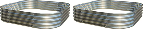discount Raised Garden online Bed 2-Pack Metal Elevated discount Planter for Vegetable Flower Herb (5 ft. x 5 ft.) outlet online sale
