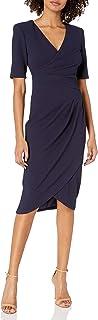 Women's Sleeveless Sheath Dress with Draped Details
