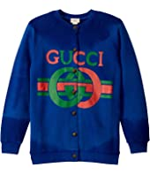 Gucci Kids - GG JG Long Sleeve Cardigan (Little Kids/Big Kids)