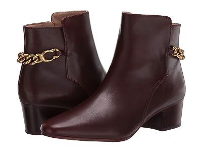 COACH Carissa C Chain Bootie (Walnut Leather) Women