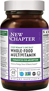 New Chapter Women's Multivitamin + Immune Support – Every Woman's One Daily with Fermented Nutrients - 48 Count (Packaging...