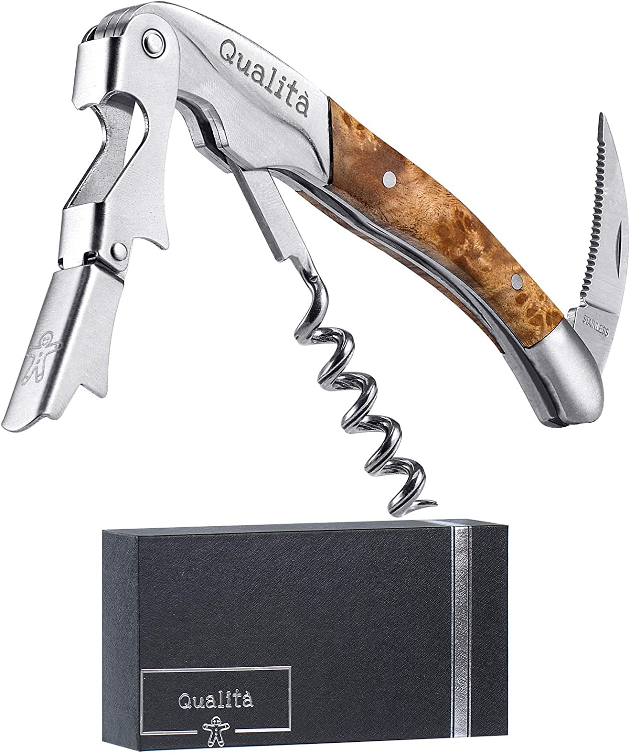 Qualita All in One Corkscrew Louisville-Jefferson County Mall Bottle Opener Foil Wine Cutter and Wholesale