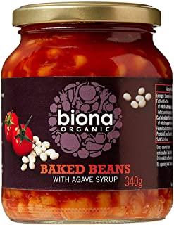 Biona Organic Baked Beans with agave syrup, 340g