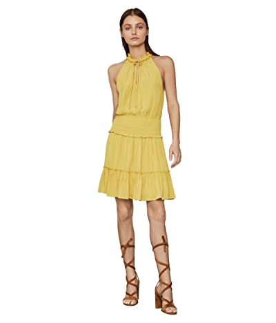 BCBGMAXAZRIA Ruffle Cocktail Dress (Bamboo) Women