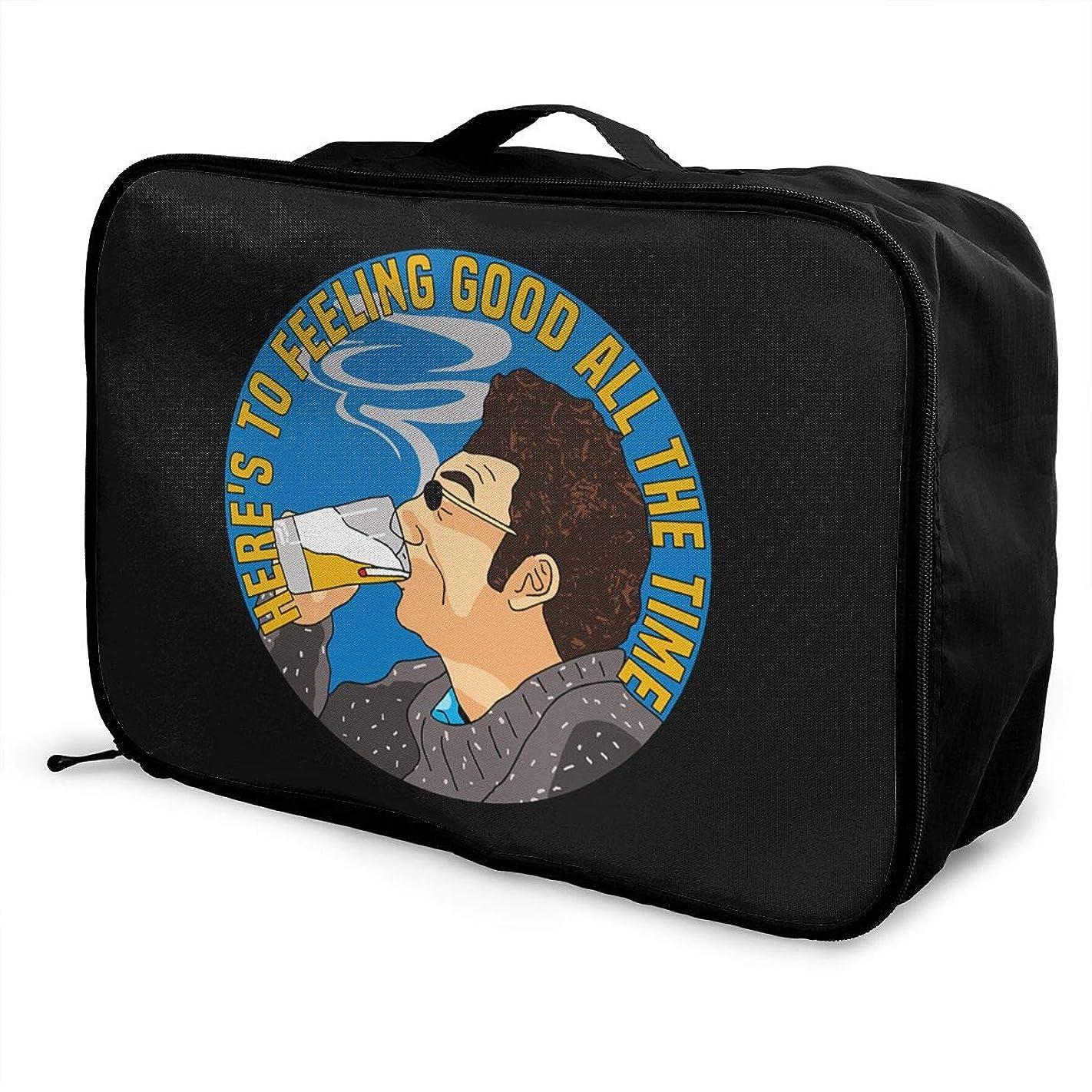 花婿読み書きのできない宇宙飛行士折りたたみ旅行バッグ キャリーオンバッグ ボストンバッグ 軽量 大容量 トラベルバッグ 収納バッグ 折りたたみ 旅行 収納ポーチ 機内持込可 スーツケース固定可 サインフェルド 男女兼用