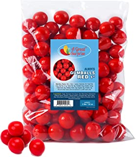 Red Gumballs for Candy Buffet – Apx. 120 Gumballs - 2 Pounds - Gumballs 1 Inch – Red Candy - Bulk Candy