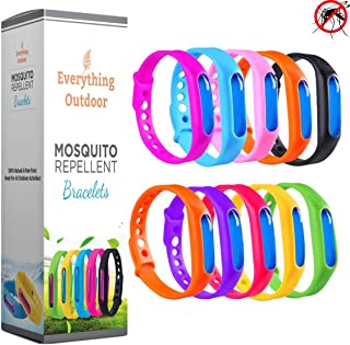 Natural Anti Mosquito Repellent Bracelet (10 Pack) - Baby & Kid Safe - Great for All Outdoor Activities - US Organic & No DEET - Wristband Fits Men, Women, Kids, and Infants!