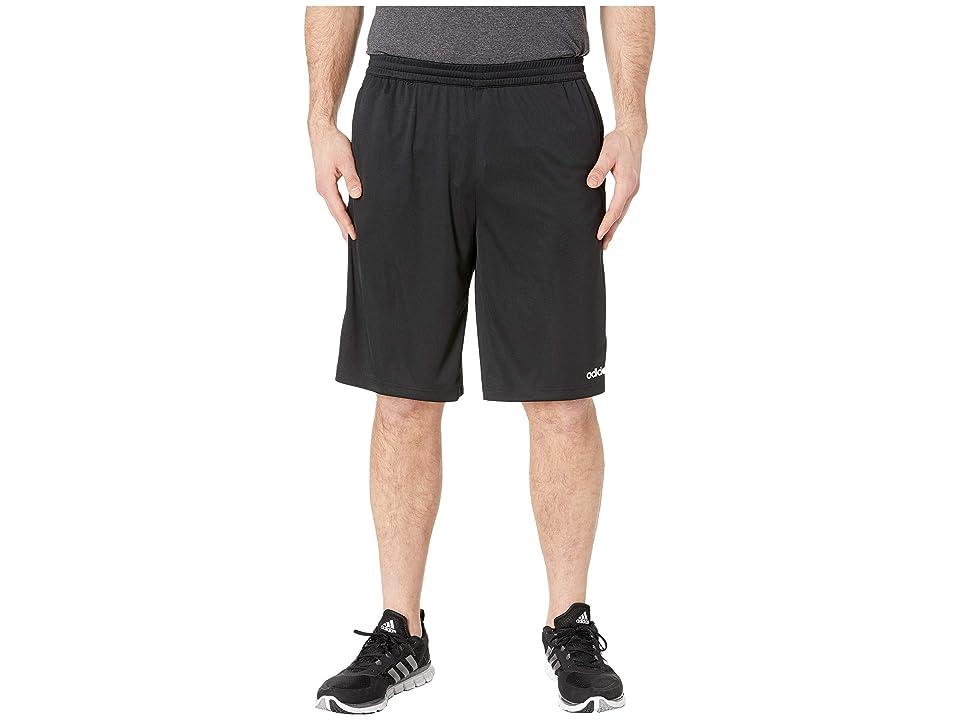adidas - adidas Big Tall D2M 3-Stripe Shorts , Black