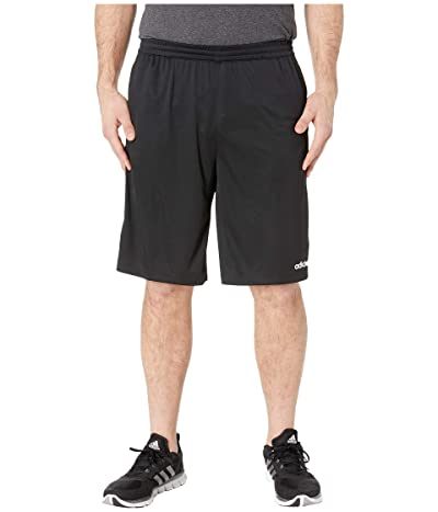 adidas Big Tall D2M 3-Stripe Shorts (Black/White) Men