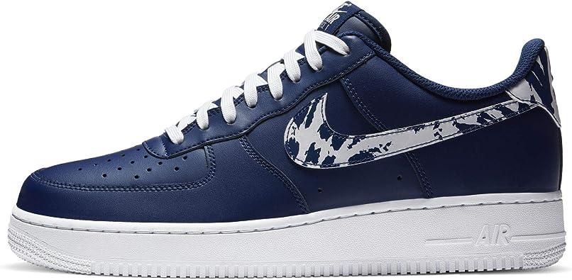Amazon.com | Nike Men's Shoes Air Force 1 Low White Black Sole ...