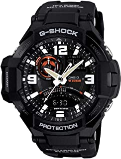 Men's G-Shock GA1000-1A Black Silicone Quartz Watch with Black Dial