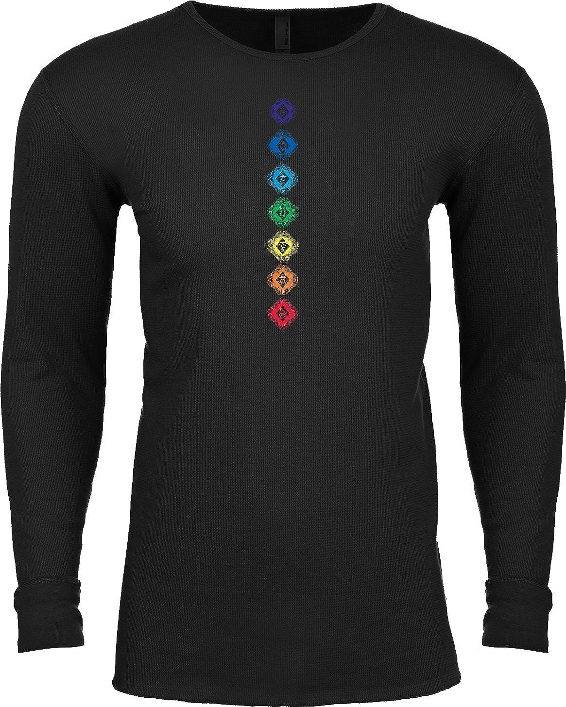 Buy Cool Shirts Mens Yoga Tee Diamond Chakras Thermal Shirt