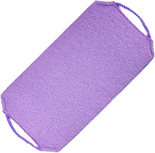 Prettyia Long Shower Back Scrubber Strap Bath Body Exfoliating Cleaning Towel - Purple, as described