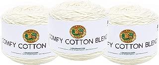 1 skein//ball Lion Brand Yarn 756-721 Comfy Cotton Blend Yarn Cool Night
