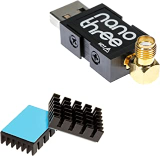 NooElec NESDR Nano 3 - Premium Tiny RTL-SDR w/Aluminum Enclosure, 0.5PPM TCXO, SMA & MCX Input & Custom Heatsink. RTL2832U & R820T2-Based Software Defined Radio