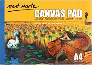 Mont Marte Canvas Pad A4 280gsm 10 Sheets