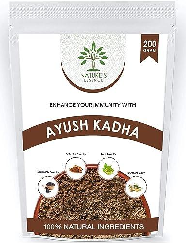Nature s Essence Ayush Kadha Mix Kwath Powder for Immunity Booster Herbal Kadha 400 Grams Pack of 2