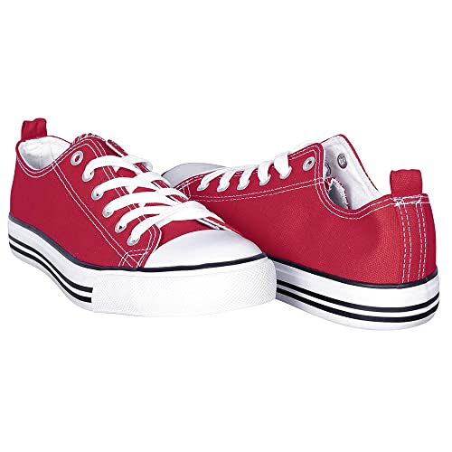 Canvas Sneakers for Women – Low Cut Casual Shoes - Casual Lace Up Flat Shoes a3236a92361