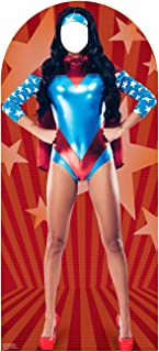Advanced Graphics Woman Super Hero Stand-in Life Size Cardboard Cutout Standup