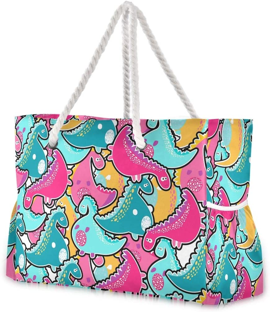 SUABO Travel Beach Bag favorite Large Animals Watercolor Shoulder Long Mall